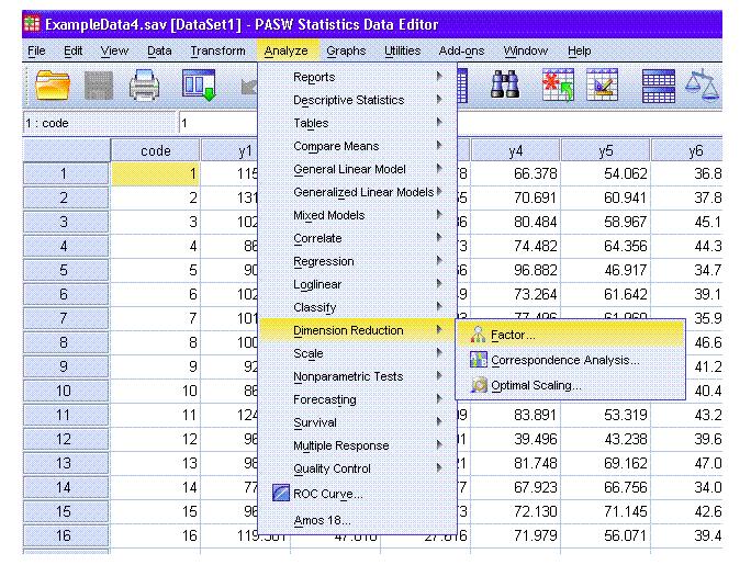 Ảnh 1 - Các bước phân tích nhân tố khám phá EFA